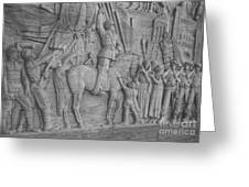 Mussolini, Haut-relief Greeting Card by Photo Researchers