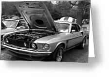 Mustang Chrome Greeting Card