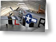 Mustang P 51 Greeting Card