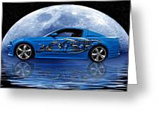 Mustang Reflection Greeting Card