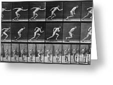 Muybridge Locomotion, Man Running, 1887 Greeting Card