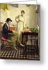 My Kitchen Greeting Card by Harold Harvey