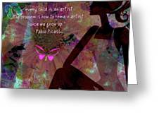 My Own Picasso Greeting Card by Fania Simon