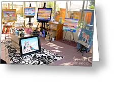 My Studio And Paintings Greeting Card
