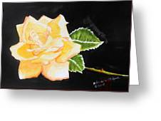 My Yellow Rose Greeting Card