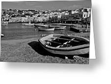 Mykonos Boats Greeting Card