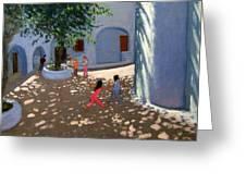 Mykonos Monastery Greeting Card