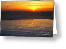 Mykonos Sunset Greeting Card