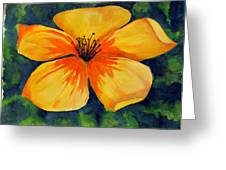 Mysterious Yellow Flower Greeting Card