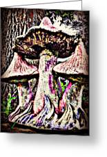 Mystic Mushrooms Greeting Card by Corrie Knerr