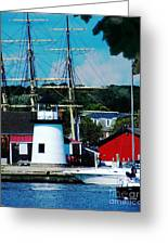 Mystic Seaport Ct Greeting Card