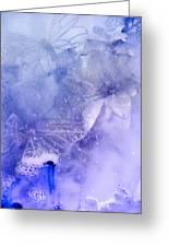 Mystical Garden- Butterflies In Blue Greeting Card