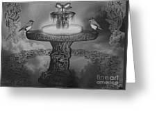 Mystical Garden Waterfountain Greeting Card