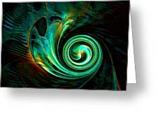 Mystical Spiral Greeting Card