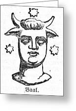 Mythology: Baal Greeting Card
