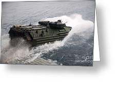N Amphibious Assault Vehicle Departs Greeting Card