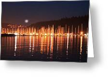 Nanaimo Harbour Greeting Card by Dayvid Clarkson