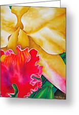 Nancy Smith Orchid Greeting Card by Daniel Jean-Baptiste
