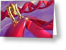 Nanorobot On Dna Greeting Card by Victor Habbick Visions