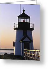 Nantucket Brant Point Lighthouse Greeting Card