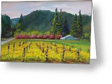 Napa Valley Mustards On Silverado Trail Greeting Card