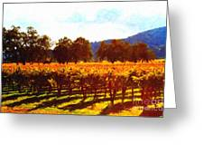 Napa Valley Vineyard In Autumn Colors 2 Greeting Card by Wingsdomain Art and Photography