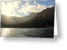 Napali Coast Sunrise Greeting Card
