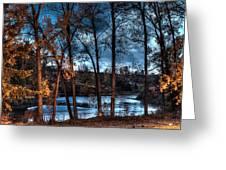 Napanee River At Dawn Greeting Card