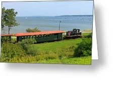 Narrow Gauge Railroad Portland Maine Greeting Card
