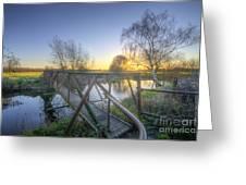 Narrow Iron Bridge Greeting Card