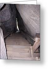Narrow Stairway Greeting Card