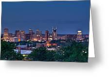 Nashville Cityscape 7 Greeting Card