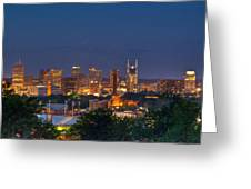 Nashville Cityscape 8 Greeting Card