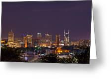 Nashville Cityscape 9 Greeting Card