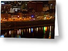 Nashville River Front By Night 1 Greeting Card