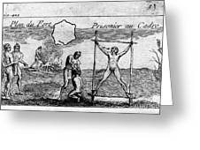 Natchez Punishment, C1725 Greeting Card