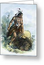 Native American Hunter Greeting Card