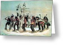 Native American Indian Snow-shoe Dance Greeting Card
