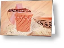 Native American Pottery Greeting Card by Alanna Hug-McAnnally