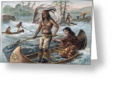 Native Americans/fishing Greeting Card