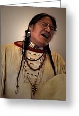 Native Cheyenne Chant Greeting Card