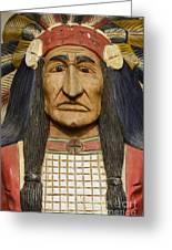 Native Chief Greeting Card