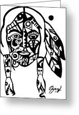 Native Man Greeting Card