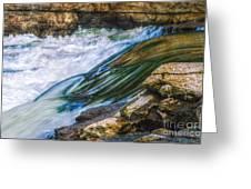 Natural Spring Waterfall Big River Greeting Card
