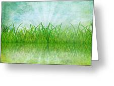 Nature And Grass On Paper Greeting Card by Setsiri Silapasuwanchai