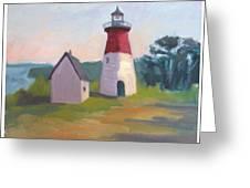 Nauset Lighthouse Cape Cod Greeting Card