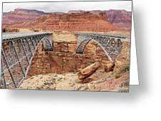 Navajo Bridge In Arizona Greeting Card
