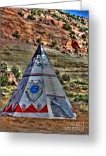 Navajo Trading Post Teepee Greeting Card