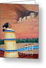 Navajo Woman Greeting Card