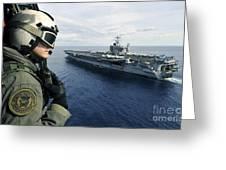 Naval Air Crewman Conducts A Visual Greeting Card